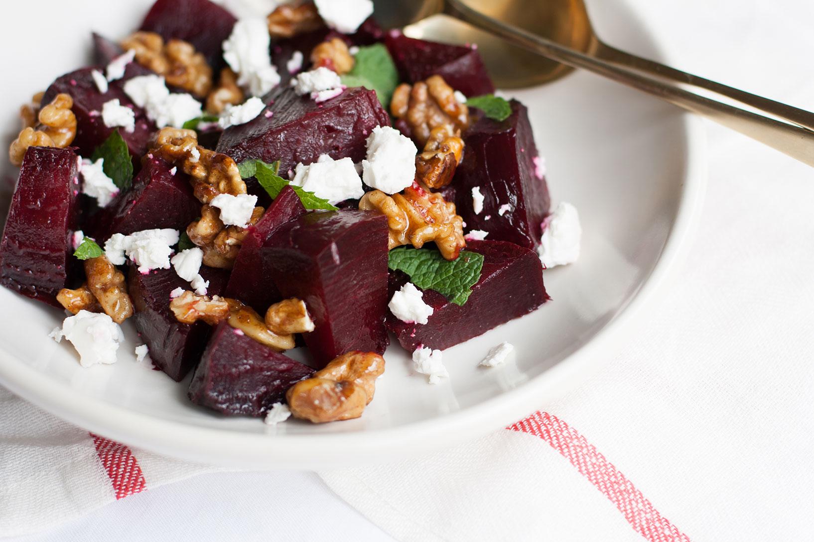 beetroot salad close up