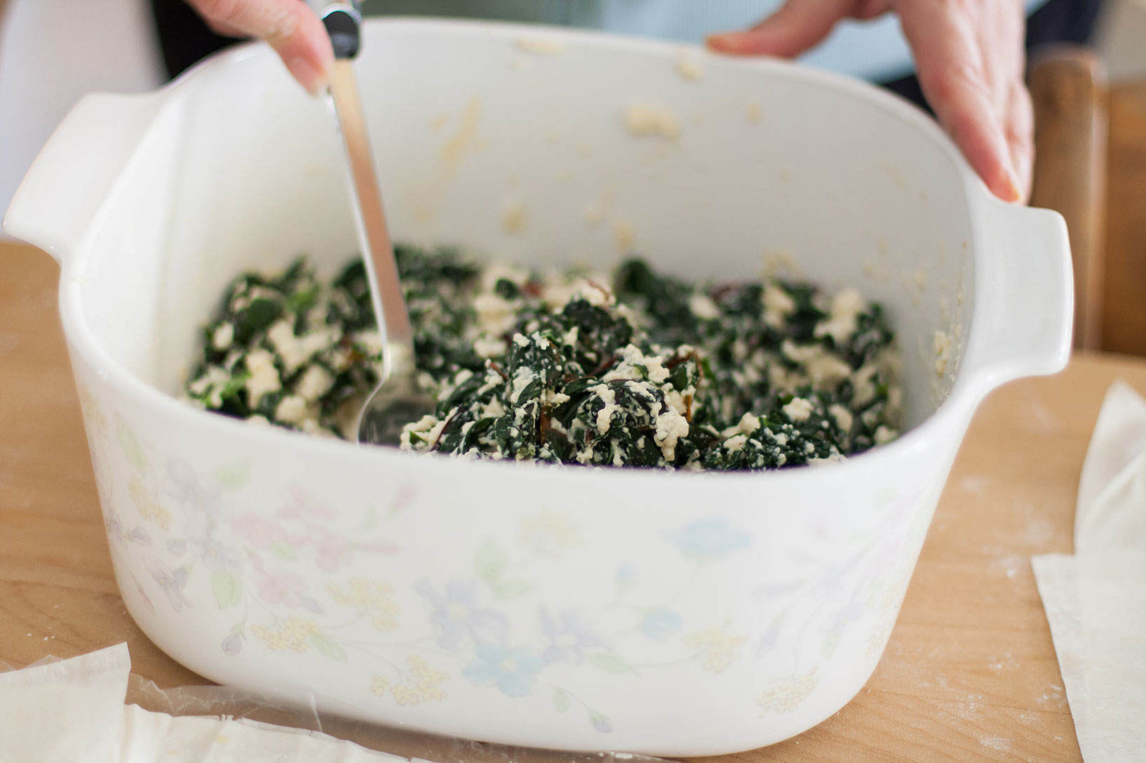 kale pie filling
