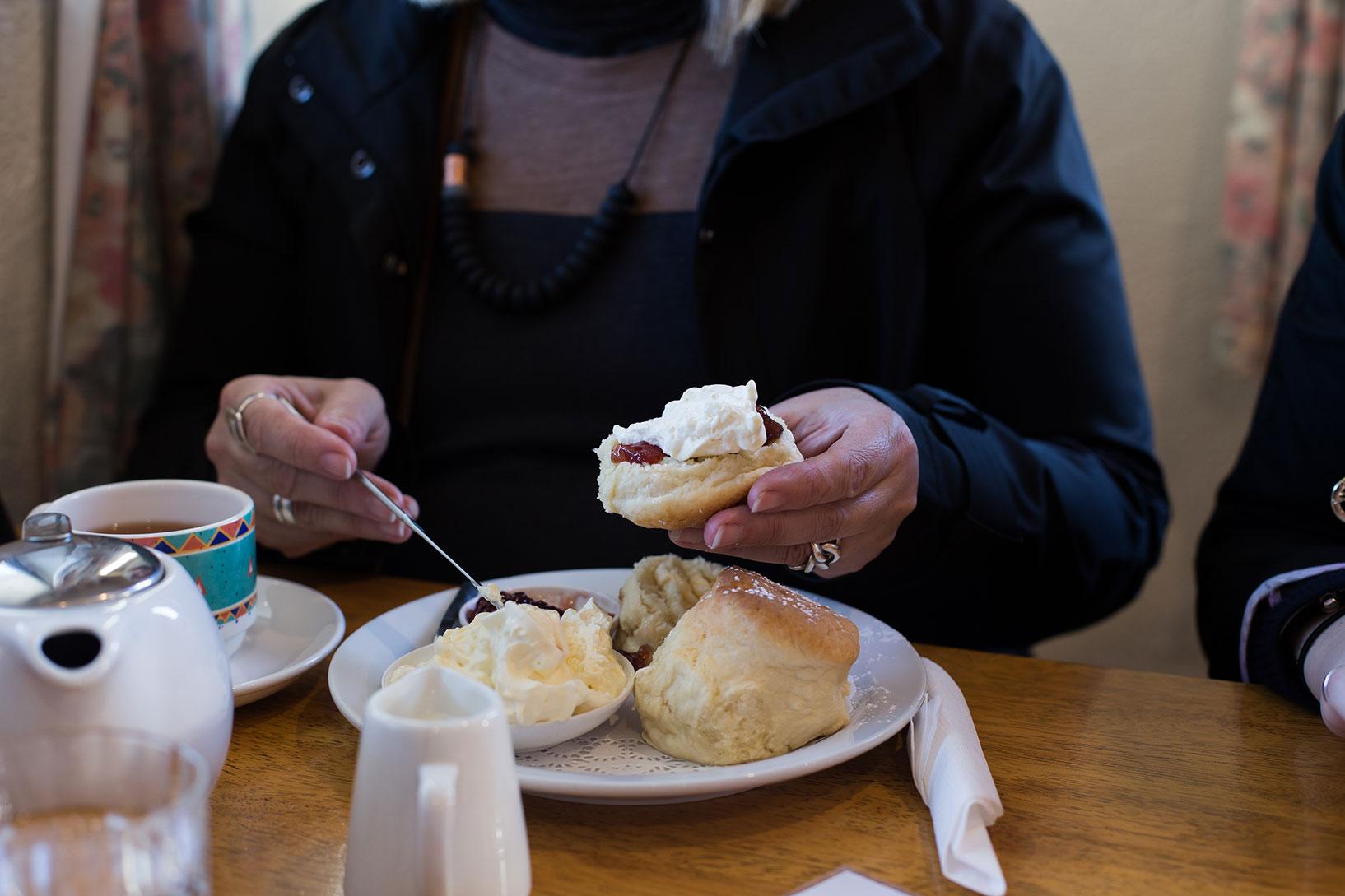 scones jam cream