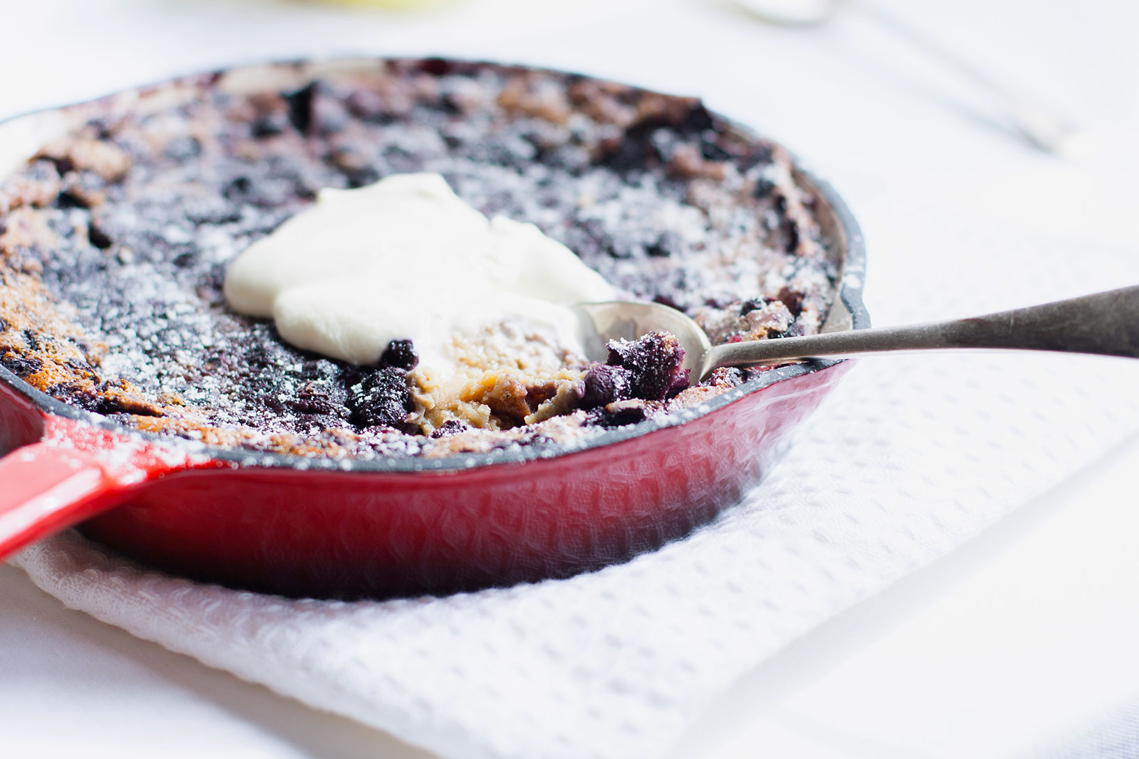 The Alimental Sage | Lemon Blueberry Clafoutis