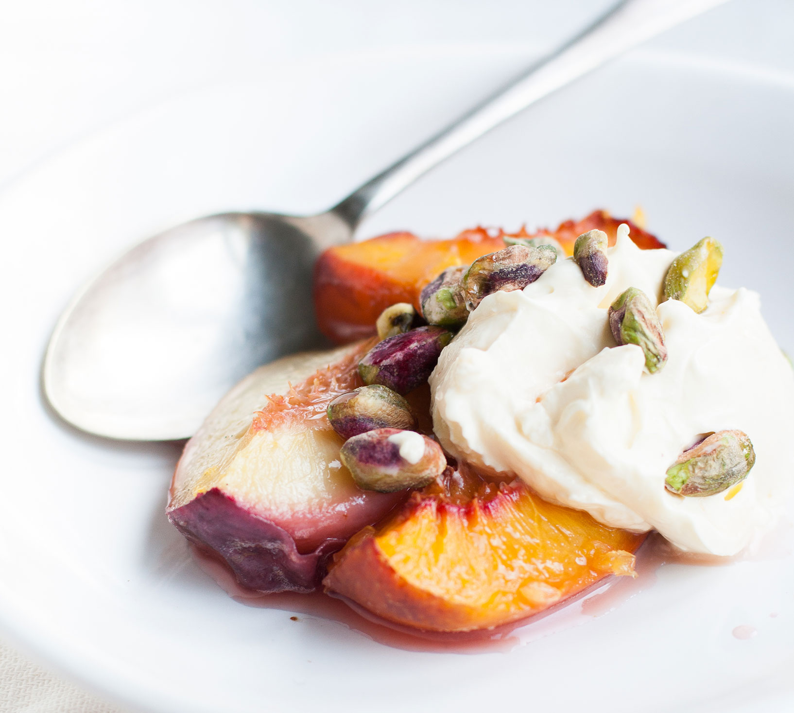 Baked Stone Fruit with Lemon Mascarpone | The Alimental Sage