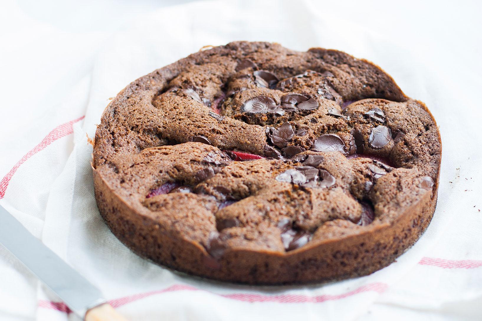 Plum Dark Chocolate Torta | The Alimental Sage
